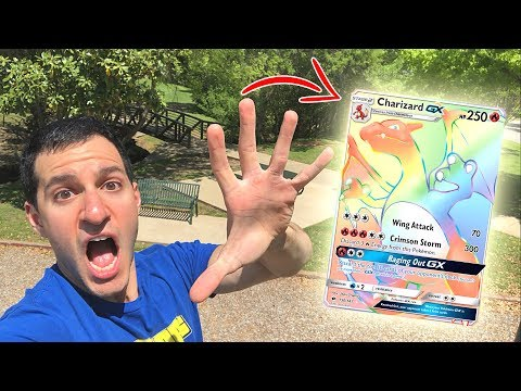 HYPER RARE CHARIZARD! Where You At?! - Opening Pokemon Cards AT THE PARK!