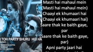 BollyLollyLyrics - Abhi To Party Shuru Hui Hai (Lyrics)
