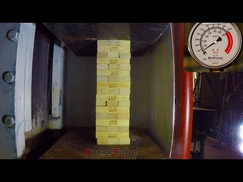 Thumbnail: Hydraulic Press | Jenga Game