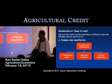 Agricultural credit Class1