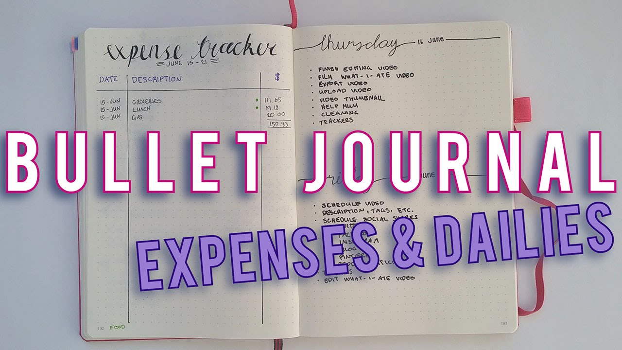 how to make a bullet journalmhabit tracker