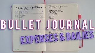 BULLET JOURNAL PLAN WITH ME #3 | Expenses & Dailies | Sam Granger