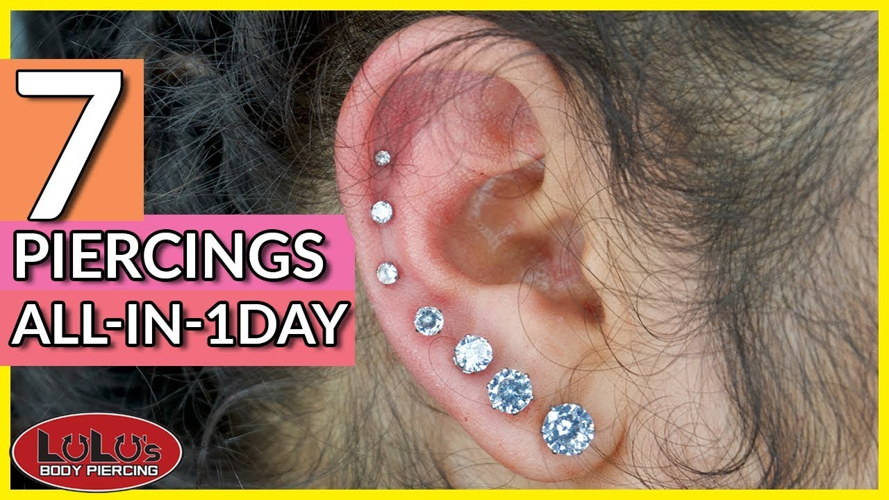 7 Piercings In One Day Constellation Piercing