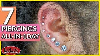 7 Piercings In One Day (Constellation Piercing)