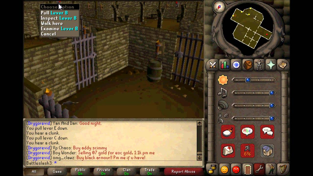 oldschool runescape how to get items back