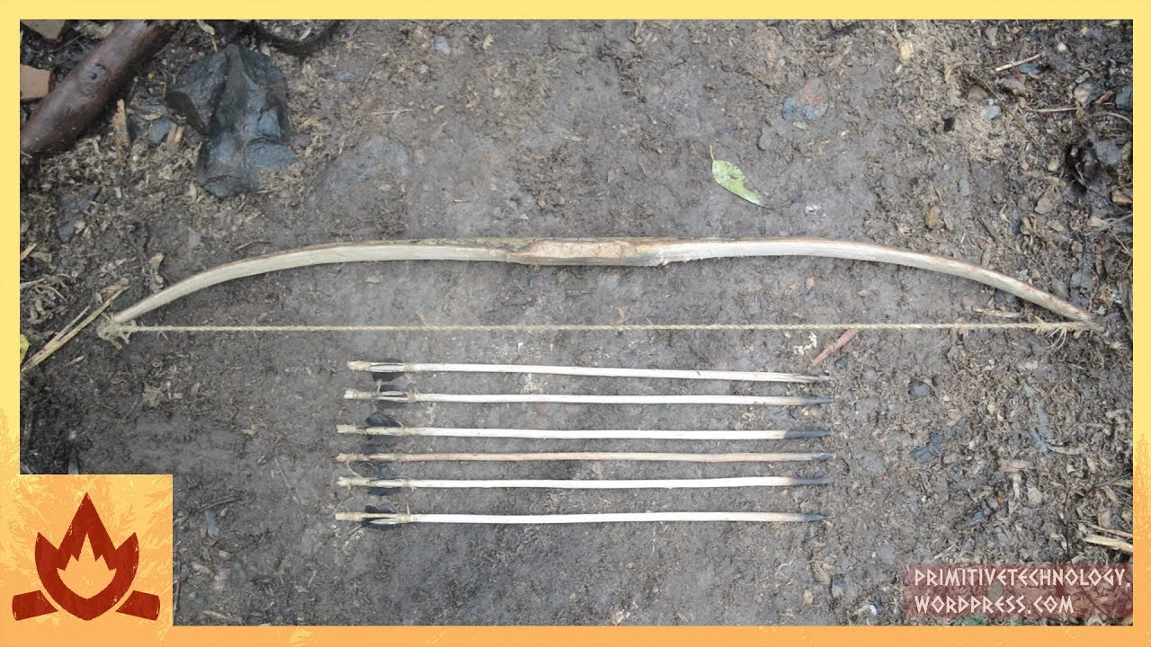 Primitive Technology Bow And Arrow Youtube