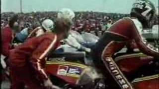 Trans Atlantic motorcycle race Mallory Park