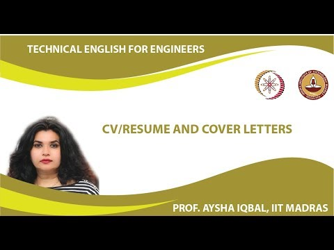 Lecture 37 - CV/Resume and Cover Letters