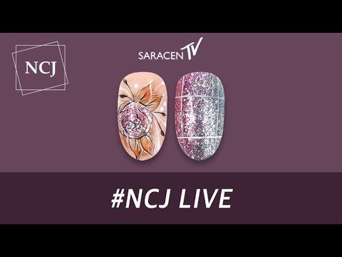 NCJ Live - 글리터의 정석 바이올렛, 반짝이는 동양화 네일아트 / Glitter of standard, shining oriental painting Nail art