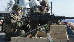 31st MEU Marines,Wasp ARG Sailors rehearse ship defense at sea ABOARD USS WASP(LHD 1),PHILIPPINE SEA