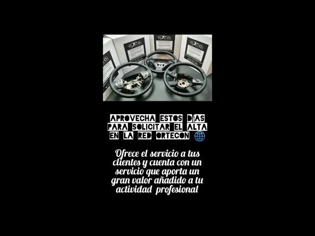 Tapizado de volantes Ortecon: Servicio directo a profesionales del motor, tapicerías y restauradores