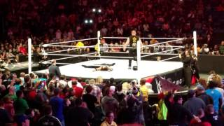 Brock Lesnar Returns WWE Raw 1/11/16