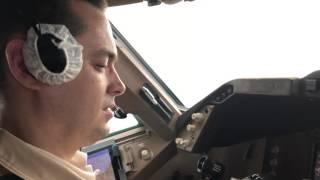 Заход и посадка в Сиэттле / Approach and landing at Seattle