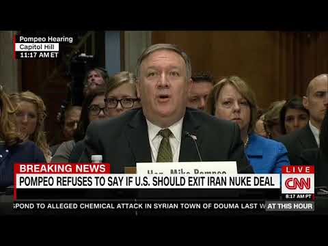 Cardin asks Pompeo about opinion on Iran nuclear deal