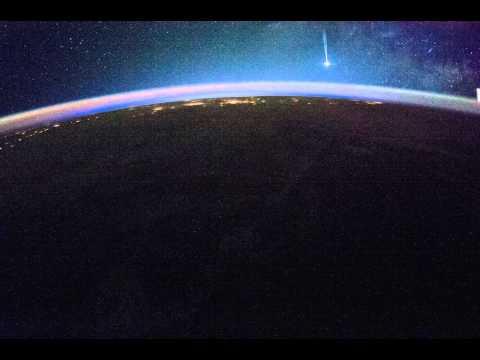 ISS038: Sunrise over Western North America