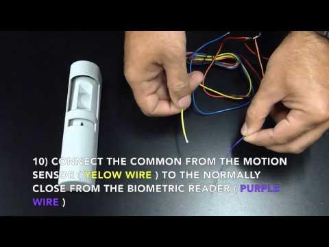 Biometric Fingerprint Door Access Kit Wiring Instructions