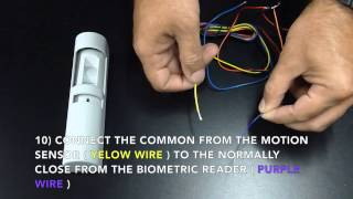biometric fingerprint door access kit wiring instructions