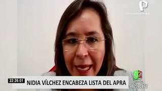 Nidia Vílchez se perfila como una de las principales opciones del APRA