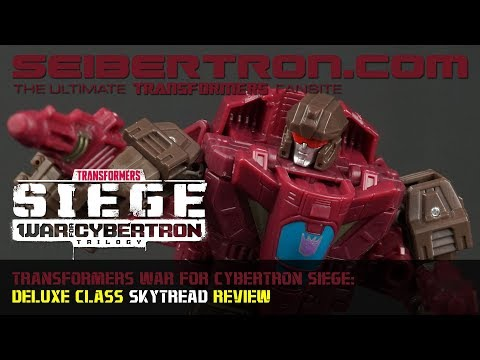 Transformers War for Cybertron Siege SKYTREAD Deluxe Class review from Seibertron.com