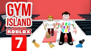 HIRING A CLEANER - Roblox Gym Island #7