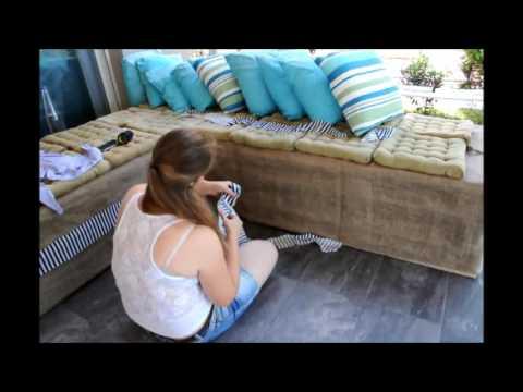 Καναπές από παλέτες ( Pallet sofa)
