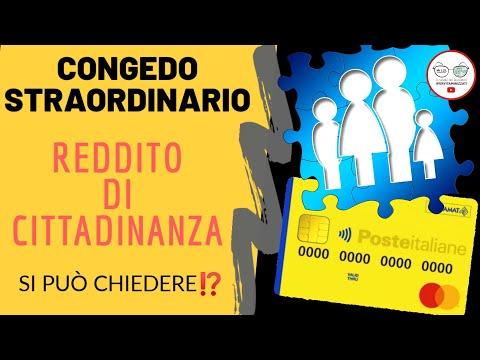 Congedo STRAORDINARIO 2020 e Reddito di Cittadinanza [approfondimento e compatibilità]