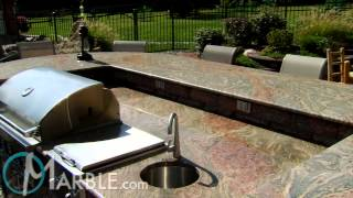 Juparana Yellow Granite Patio Bar Countertops By Marble.com