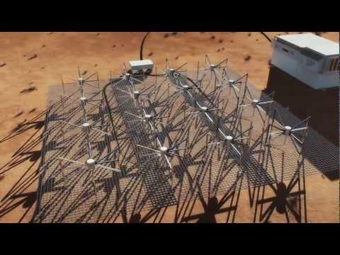 Fly-through Animation of MWA Radio Telescope