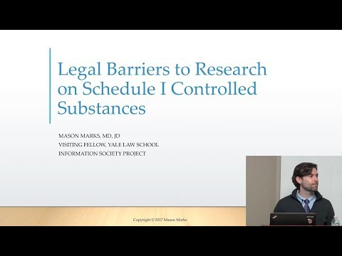 Legal Barriers to Research on Schedule I Controlled Substances- Yale Medical School