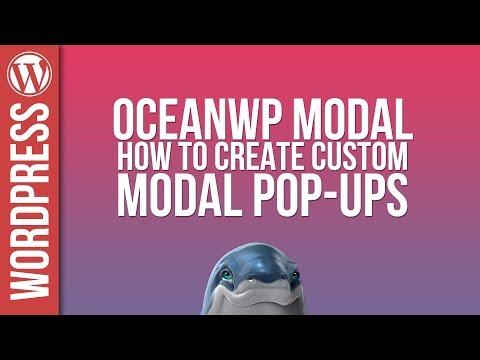 Custom Modal Popups with OceanWP - Tutorial - 동영상