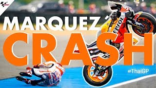 Marc Marquez suffers HUGE crash during FP1 | 2019 #ThaiGP