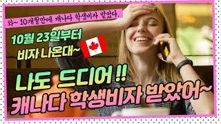 캐나다 학생비자 발급시작 / 캐나다 이민국이 드디어 캐…
