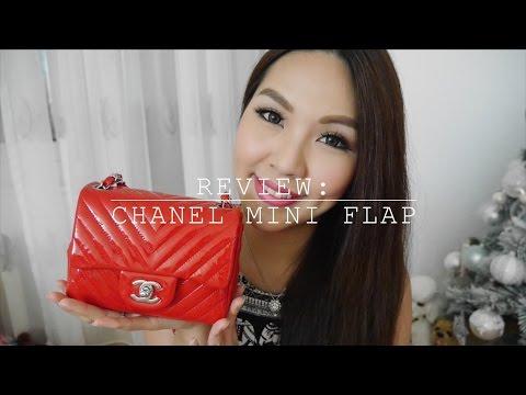 Review: Chanel Mini Flap♥WIMB+How to wear+WOC| Angelbirdbb