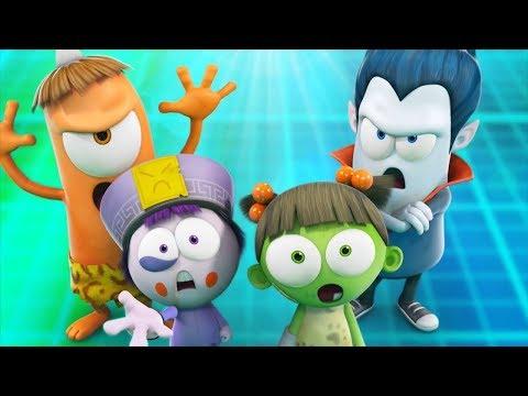 Funny Animated Cartoon | Spookiz Throwback Thursday Halloween Party 스푸키즈 | Cartoon For Children