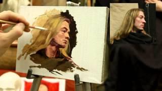 Пример этюда - Обучение живописи. Масло. Портрет, 4 серия