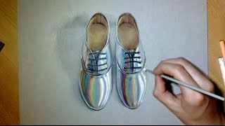 Drawing Crazy Shoes Hyperrealism art