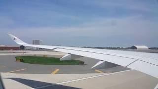 Qatar Airways A350-900 XWB Takeoff from JFK to Doha, Hamad International Airport.