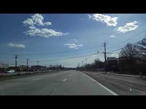 Driving on Sunrise Highway from Islip to Lindenhurst in Suffolk,New York