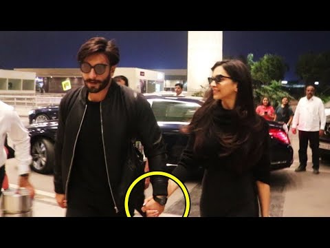 Deepika Paukone & Ranveer Singh LEAVES For Their HONEYMOON | SPOTTED At Mumbai Airport