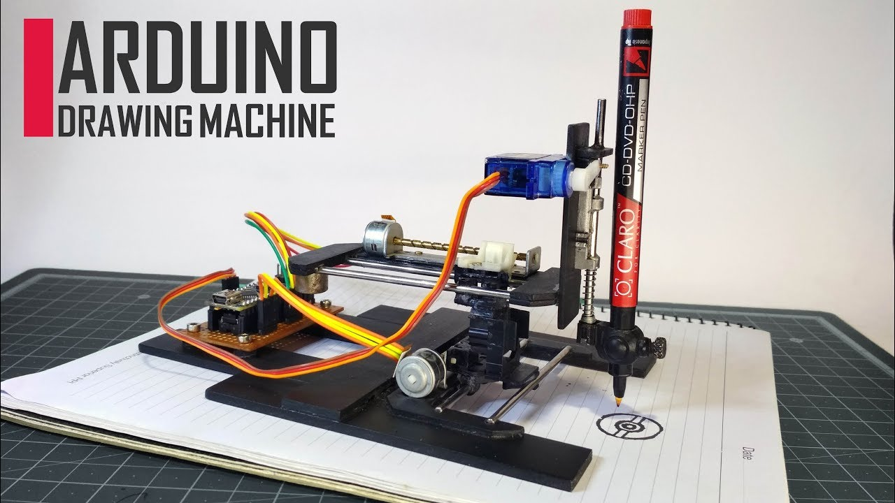 How To Make A Diy Arduino Cnc Drawing Machine At Home Youtube Circuit Diagram For Dvd Servo Control Premium