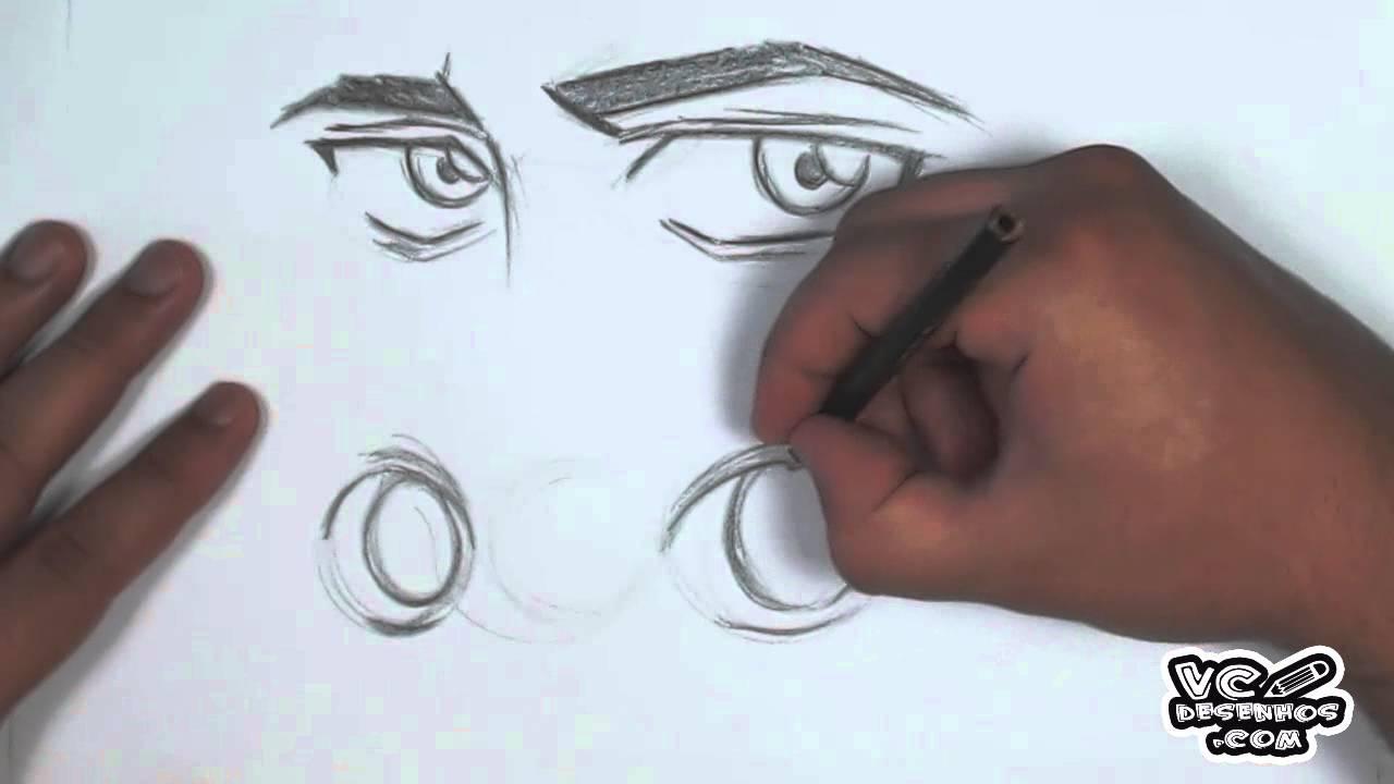 Video Aula Manga Como Desenhar Olhos Masculinos E Femininos No Manga