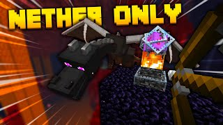 I Beat Minecraft Without Leaving the Nether!