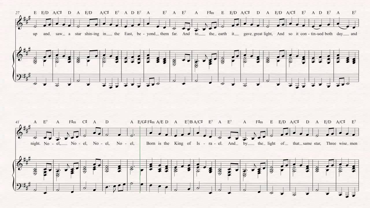Cornet the first noel christmas sheet music chords vocals cornet the first noel christmas sheet music chords vocals hexwebz Images