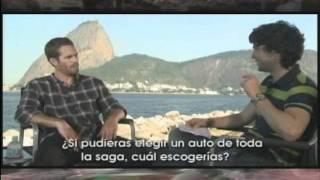 Entrevista Rapidos y Furiosos:  Paul Walker