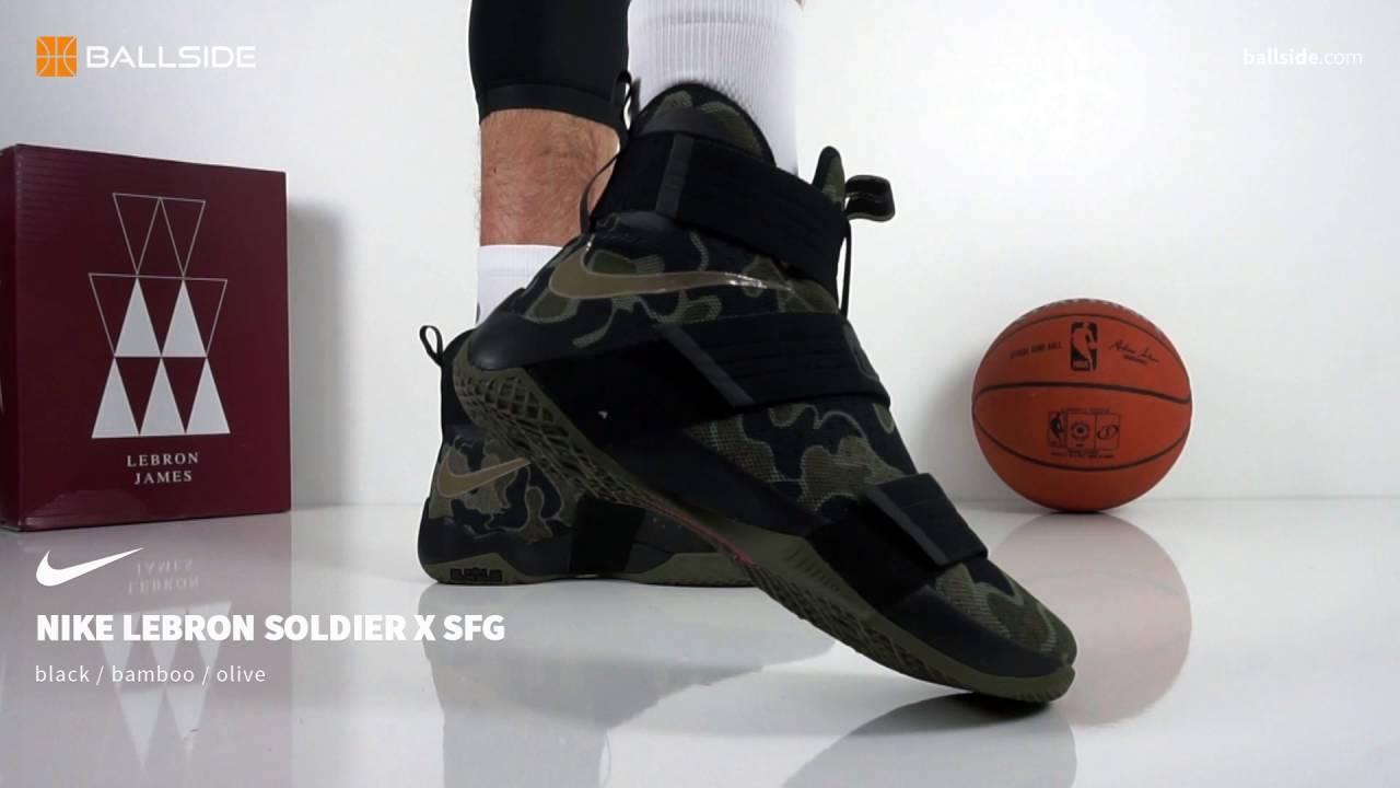 1b4ab2a5dda Nike LeBron Soldier X SFG - YouTube