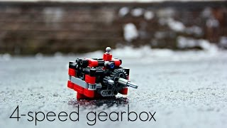 Lego Technic 4-speed gearbox w/ instructions