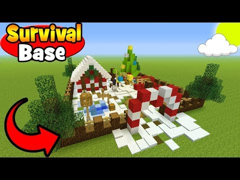 "Minecraft Tutorial: How To Make A Christmas Survival Base! ""Survival Base"""