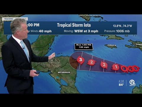 Tropical Storm Iota forms in the Caribbean Sea