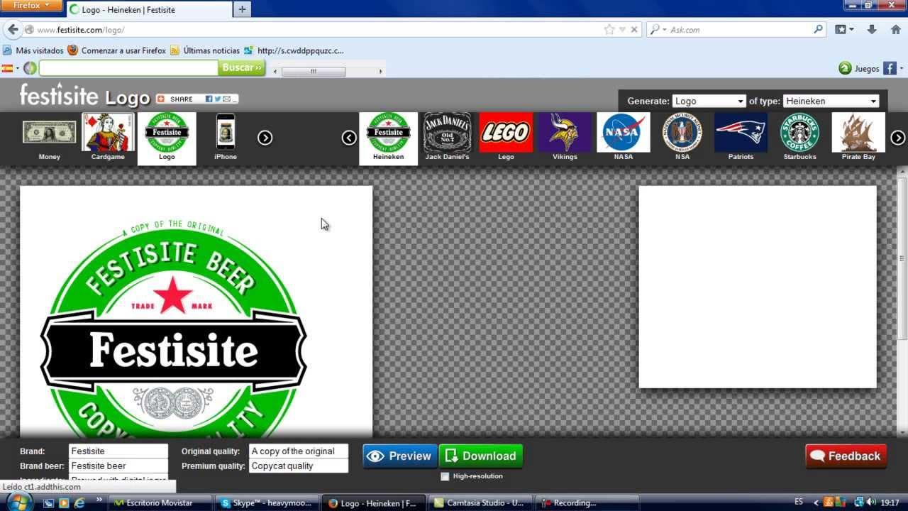 tutorial de pagina web para hacer logos link en la