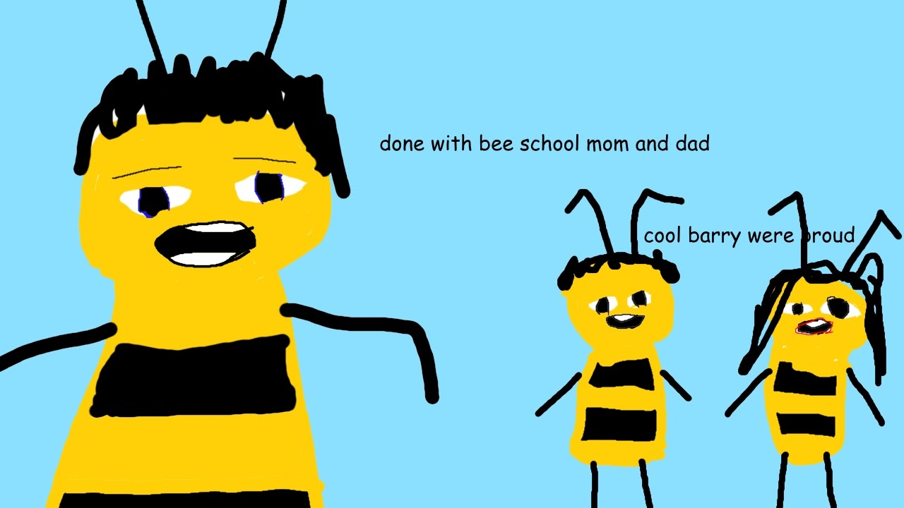 The Bee Movie but it's in Microsoft Paint - YouTube
